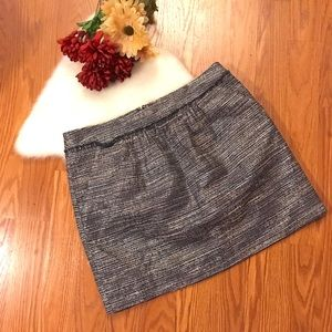 Gap metallic skirt size 10